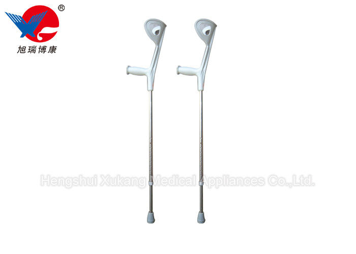 Metal Color Medical Walking Crutches , S / M  / L Size Adjustable Elbow Crutches